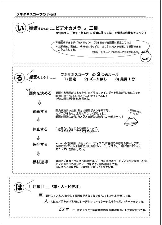 フネタネスコープ 撮影&鑑賞のイロハ(作成:recip+remo)